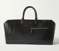 Logo-Debossed Leather Weekend Bag