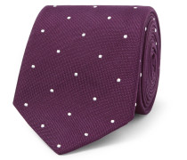 7cm Polka-dot Embroidered Silk Tie