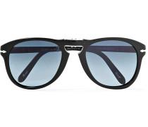 Steve Mcqueen Folding D-frame Acetate Polarised Sunglasses, Size 54