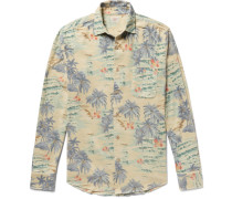 Ventura Slim-fit Printed Cotton-flannel Shirt