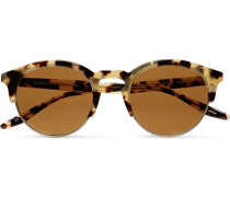 Griffin Round-frame Tortoiseshell Acetate And Gold-tone Sunglasses