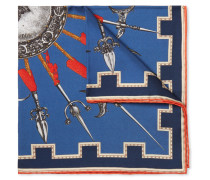 Armi Printed Silk-twill Pocket Square