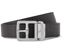 3cm Black And Brown Boho Reversible Full-grain Leather Belt