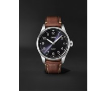 Big Crown ProPilot Big Date Automatic 41mm Stainless Steel and Leather Watch, Ref. No. 01 751 7761 4065-07 6 20 07LC