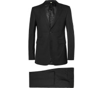 London Black Slim-fit Wool Suit