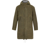 Waxed-cotton Hooded Parka With Detachable Liner