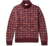 Jacquard-Knit Rollneck Sweater