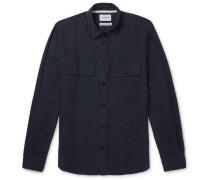 Villads Cotton and Linen-Blend Twill Shirt