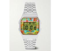 + Coca Cola T80 34mm Stainless Steel Digital Watch