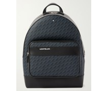 M_Gram 4810 Logo-Print Coated-Canvas and Leather Backpack