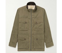 Hanning Corduroy-Trimmed Dry Wax Cotton Jacket