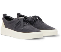 101 Leather-Trimmed Suede Sneakers
