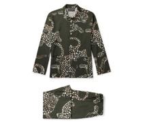 Printed Cotton-Poplin Pyjama Set