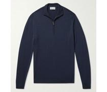 Barrow Mélange Merino Wool Half-Zip Sweater