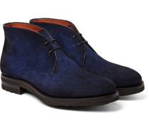 Burnished-suede Chukka Boots