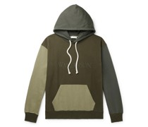 Logo-Embroidered Colour-Block Cotton-Jersey Hoodie