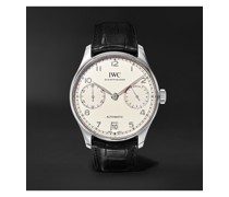Portugieser Automatic 42.3mm Stainless Steel and Alligator Watch