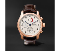 America's Cup Regatta Chronograph 43mm Rose Gold and Alligator Watch, Ref. No. AC-R/RG