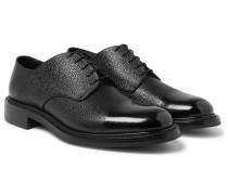 Felix Cap-toe Pebble-grain Leather Derby Shoes