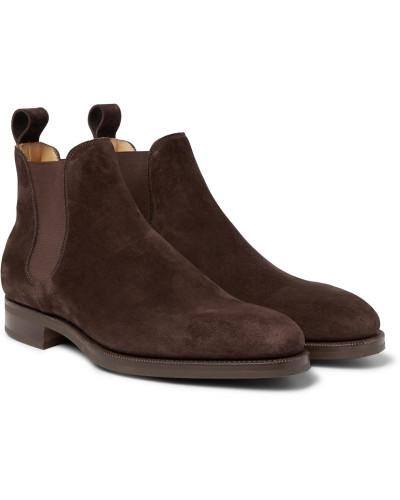 Camden Suede Chelsea Boots - Dark brown