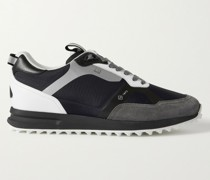 Radial 2.0 Leather and Suede-Trimmed Ripstop Sneakers