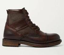Trent Canvas and Full-Grain Leather Boots