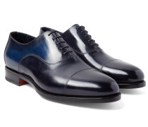 Burnished-leather Oxford Shoes