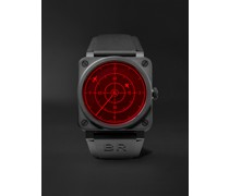 BR 03-92 Red Radar Limited Edition Automatic 42mm Ceramic and Rubber Watch, Ref. No. BR0392-RRDR-CE/SRB