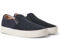 Vass Nubuck And Canvas Slip-on Sneakers