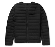 Logo-Print Quilted Nylon-Blend Down Jacket