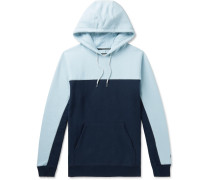 + Pilgrim Surf + Supply  Logo-Embroidered Two-Tone Fleece-Back Cotton-Blend Jersey Hoodie
