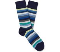 Striped Organic Cotton-Blend Socks