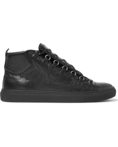 balenciaga herren arena creased leather high top sneakers. Black Bedroom Furniture Sets. Home Design Ideas