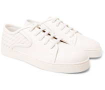 Dodger Intrecciato Leather Sneakers