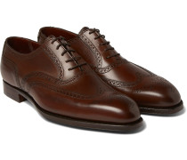 Reuben Burnished-leather Wingtip Brogues