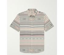 Playa Button-Down Collar Striped Organic Cotton Shirt
