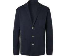 Unstructured Merino Wool Blazer