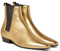 Devon Metallic Leather Chelsea Boots