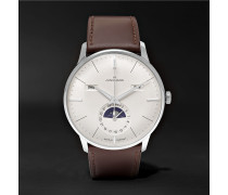 Meister Kalender Stainless Steel And Leather Watch