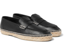Full-grain Leather Espadrilles