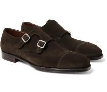 Thomas Cap-Toe Leather Monk-Strap Shoes