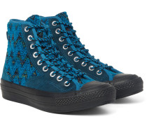 + Missoni All Star Chuck '70 Hiker Bouclé And Suede Sneakers