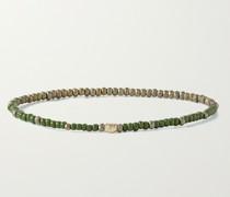 Star 14-Karat Gold and Enamel Beaded Bracelet