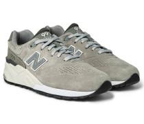 999 Nubuck-trimmed Suede Sneakers