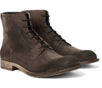 Alperton Burnished-suede Boots