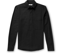 Vance Button-Down Collar Cotton and Wool-Blend Twill Shirt