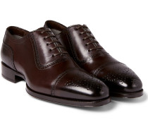 Austin Cap-toe Burnished-leather Oxford Brogues