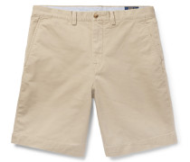 Brushed Stretch-cotton Twill Chino Shorts