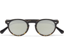 Gregory Peck Round-frame Acetate Sunglasses