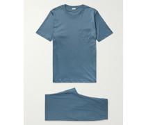 Sea Island Cotton-Jersey Pyjama Set